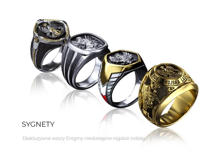 biżuteria patriotyczna - sygnety - Sklep ENIGMA
