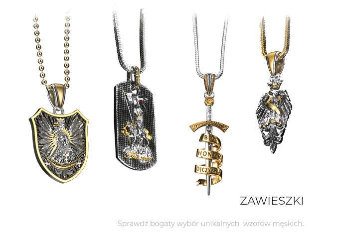 biżuteria męska - zawieszki - Sklep ENIGMA